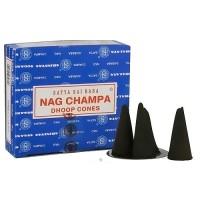 Satya Sai Baba Nag Champa Dhoop Cones - 12 Pack