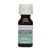 Aura Cacia Aromatherapy essential solutions oil, Gray Matter Batter - 0.5 oz