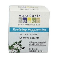 Aura Cacia Aromatherapy shower tablets reviving peppermint - 3 ea