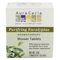 Aura Cacia purifying eucalyptus aromatherapy shower tablets - 3 oz