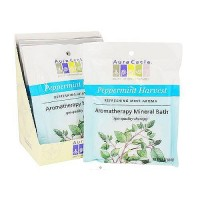 Aura Cacia Aromatherapy mineral bath, Peppermint Harvest - 2.5 oz, 6 pack