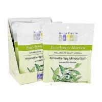 Aura Cacia Aromatherapy mineral bath, Eucalyptus harvest - 2.5 oz, 6 pack