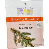 Aura Cacia Aromatherapy Mineral Bath, Warming Balsam Fir - 2.5 oz, 6 pack