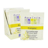 Aura Cacia Energize aromatherapy mineral bath packet - 2.5 oz, 6 pack