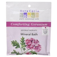 Comforting geranium mineral bath salts - 2.5 oz ,6 pack