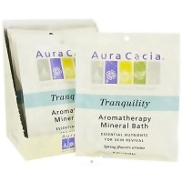 Aura Cacia tranquility aromatherapy mineral bath Spring flower, 2.5 oz
