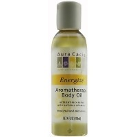 Aura Cacia aromatherapy energize bath, body and massage oil - 4 oz