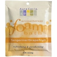 Aura Cacia aromatherapy foam bath packet, Tangerine and grapefruit - 2.5 oz