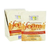 Aura Cacia Aromatherapy foam bath cinnamon and Ylang Ylang - 2.5 oz, 6 pack