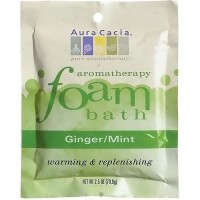 Aura Cacia aromatherapy foam bath packet, Ginger and Mint - 2.5 oz
