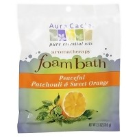 Aura Cacia aromatherapy foam bath, Patchouli and Sweet Orange - 2.5 oz