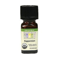 Aura Cacia aromatherapy 100% organic essential oil, Natural peppermint - 0.25 oz