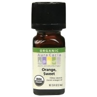 Aura Cacia aromatherapy 100% organic essential oil, Sweet Orange - 0.25 oz