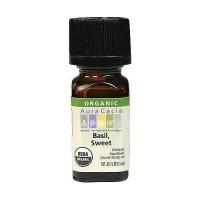 Aura Cacia Aromatherapy 100% organic essential oil, Sweet Basil - 0.25 oz