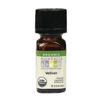 Aura Cacia aromatherapy 100% organic essential oil, Vetiver - 0.25 oz
