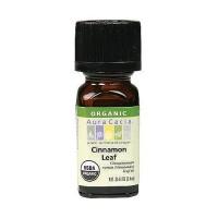 Aura Cacia Aromatherapy 100% organic essential oil, Cinnamon Leaf - 0.25 oz