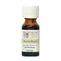 Aura Cacia Basil (Sweet) 100% essential oil (ocimum basilcum)- 0.5 oz