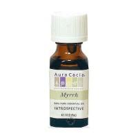 Aura Cacia 100% pure essential oil introspective Myrrh (commiphora molmo) - 0.5 oz