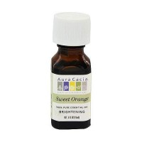 Aura Cacia pure essential oil brightening orange sweet (citrus sinensis) - 0.5 oz