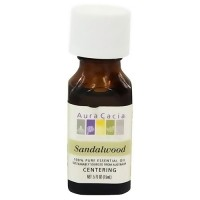 Aura Cacia 100% pure essential oil focusing sandalwood (santalum album) - 0.5 oz