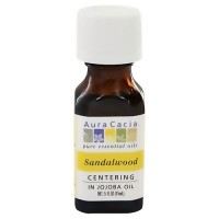 Aura Cacia aromatherapy precious essentials oil sandalwood with Jojoba - 0.5 oz