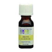Aura Cacia aromatherapy precious essentials oil myrrh with Jojoba - 0.5 oz