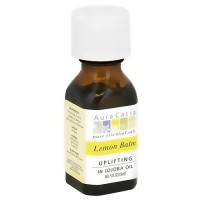 Aura Cacia Lemon Balm Pure Essential Oils in jojoba Oil - 0.5 oz