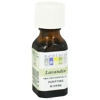 Aura Cacia pure essential oil purifying lavandin (lavandula intermedia), 0.5 oz