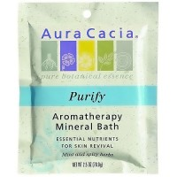 Aura Cacia aromatherapy mineral bath purify for revival skin - 2.5 oz