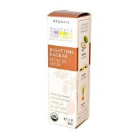 Aura cacia nighttime baobab facial oil serum  -  1 Oz