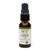 Aura Cacia Organic Rosehip Skin Care Oil with Vitamin E - 1 oz