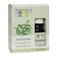 Aura Cacia 100% Pure Aromatherapy Eucalyptus Essential Oil, Exhilarating - 0.5 oz, 3 pack