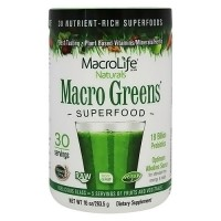 MacroLife Naturals macro greens nutrient rich super food supplement - 10 oz