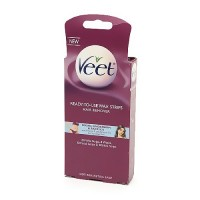 Veet ready to use wax strips hair remover for body, bikini and face - 20 ea