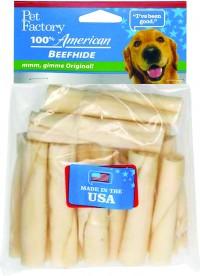 Pet Factory Inc usa beefhide mini rolls - 3-3.5 in/15 pk, 48 ea