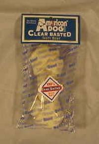 Pet Factory Inc usa beefhide clear basted dog bone - 6 inch, 60 ea