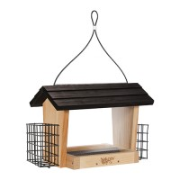 Natures Way Bird Prdts hopper feeder with suet cages - 6 quart cap, 4 ea