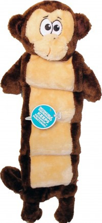Petstages invincible squeaker palz monkey matz dog toy - xl, 24 ea