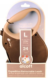 Paws/Alcott alcott retractable leash up to 110 lbs - xlarge/24 ft, 24 ea