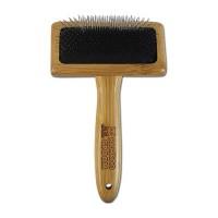 Paws/Alcott bamboo slicker brush with stainless steel pins - medium, 144 ea