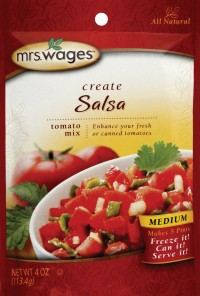 Precision Foods Inc mrs. wages medium salsa tomato mix - 4 ounce, 12 ea