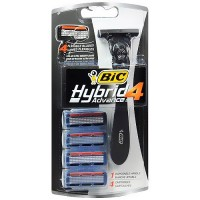 BIC hybid 4 advance razor for men - 4 cartridges