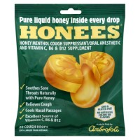 Honees honey menthol cough suppressant cough drops - 20 ea
