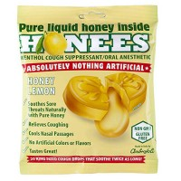 Honees honey lemon  menthol cough suppressant cough drops - 20 ea