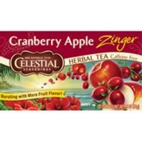 Celestial seasonings cranberry apple zinger natural herbal tea with vitamin C - 20 bags,6 pack