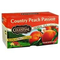 Celestial seasonings herbal tea, country peach passion - 20 tea bags,6 pack
