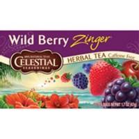 Celestial seasonings caffeine free wild berry zinger natural herbal tea - 20 bags