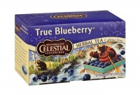 Celestial seasoning caffeine free natural herbal tea, true blueberry - 20 tea bags,6 packs