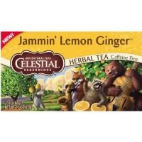 Celestial seasonings herbal tea caffeine free jammin lemon ginger  20 ea ,6 pack