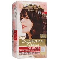 Loreal Excellence Triple Protection Hair Color Creme, 5AR Medium Maple Brown - Kit